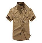 點一下即可放大預覽 -- 卡其色 L號~美軍風軍服戰術衫-舒適,透氣,超有型!