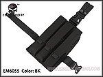 點一下即可放大預覽 -- 黑色~愛默生 EMERSON MP7 MP5 KRISS M1A1 M11A  通用腿掛三連彈匣袋