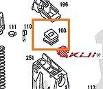 點一下即可放大預覽 -- KSC HK.45 彈匣橡膠嘴,氣道橡膠 (零件編號#103)