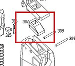 點一下即可放大預覽 -- KWA KRISS 彈匣橡膠嘴,氣道橡膠 (零件編號#307)