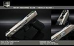 點一下即可放大預覽 -- 限量優惠!鎳銀色~SRU SR-34 MECHNIC WE G34C 瓦斯槍,手槍(附硬式保護槍箱)