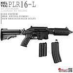 點一下即可放大預覽 -- 雙彈匣版~WE PLR16-L GBB 瓦斯氣動槍,瓦斯槍(附30發長彈匣)