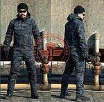 點一下即可放大預覽 -- XL號 警黑色~斑紋迷彩 射手罩衣,迷彩作戰服,上衣 戶外防護 掩護