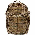 點一下即可放大預覽 -- 多地型迷彩 5.11 正品 RUSH 24 高性能 多用途 攻擊 勤務背包