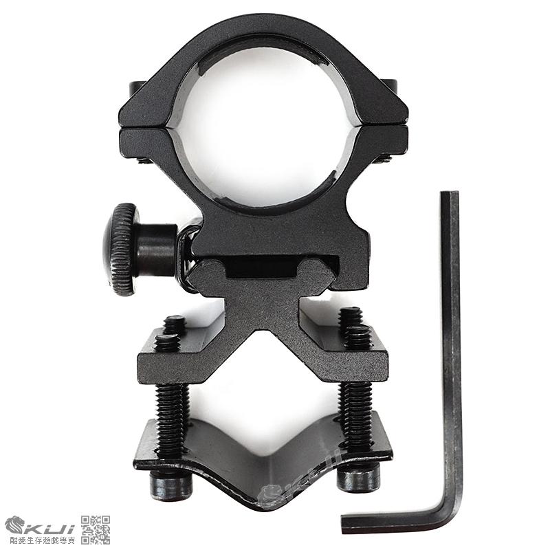 槍管專用夾具~可夾槍燈,雷射,狙擊鏡(25mm金屬8字環)