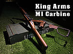 點一下即可放大預覽 -- 【展示品出清特惠$8800】實木版~King Arms M1 Carbine CO2 卡賓步槍~二戰軍迷必收款 (固定托,槍機可動)