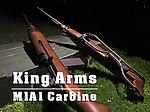 點一下即可放大預覽 -- 【展示品出清特惠$8800】實木版~King Arms M1A1 傘兵版 CO2 卡賓步槍~二戰軍迷必收款 (摺疊托,槍機可動)