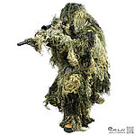 點一下即可放大預覽 -- TRU-SPEC CAMOUFLAGE GHILLIE SUIT【叢林迷彩 M/L號】三件式 吉利服,偽裝服,套服