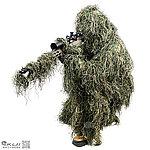 點一下即可放大預覽 -- 叢林迷彩 吉利服套裝,偽裝服,偽裝網,狩獵服,賞鳥,拍戲,道具,狙擊手,迷彩服