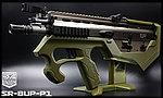 點一下即可放大預覽 -- 限量優惠!軍綠色 SRU SCAR-L(沙色) SR-BUP-P1 GBB 瓦斯槍,衝鋒槍