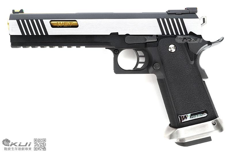 限量優惠!銀滑套~WE 原力系列HI-CAPA 6吋龍(金外管) 全金屬瓦斯槍,手槍,BB槍