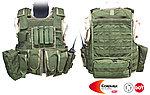 點一下即可放大預覽 -- M號 OD綠~警星 軍警戰術裝備 R. A. V. 戰術背心,抗彈背心