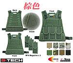 點一下即可放大預覽 -- 棕色~警星 G-Tech 軍警戰術裝備 模組化輕量背心式貼身袋,戰術背心,彈袋,彈夾袋,收納袋