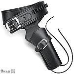 黑色 柯特 COLT SAA 左輪 牛仔槍套,人造皮製(香港進口)