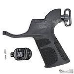 點一下即可放大預覽 -- APS 點畫版 M4 神燈QD扣戰術型馬達握把 (有附底板,螺絲) (電槍用)