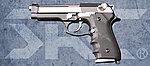 點一下即可放大預覽 -- 特價!雙匣版 SRC SR92 雙色版 全金屬瓦斯退膛瓦斯槍(GB-0704),手槍