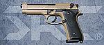 點一下即可放大預覽 -- 雙匣版 SRC SR92 薩哈拉限量版 全金屬瓦斯退膛瓦斯槍(GB-0705),手槍