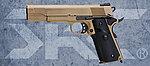 點一下即可放大預覽 -- 雙彈匣 沙色版~SRC SR-1911 MEU 全金屬瓦斯退膛瓦斯槍(GB-0733),手槍