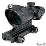 感光式 4X32 四倍小海螺倍鏡 (光纖紅點+戰術十字線),狙擊鏡,免裝電池