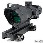 感光式 4X32 四倍小海螺倍鏡 (光纖綠點+戰術十字線),狙擊鏡,免裝電池