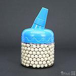 點一下即可放大預覽 -- 小罐裝~白色『 0.43g 』BLS 5.95mm 精密研磨 BB彈,加重彈 (200克裝,約465顆)