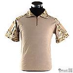 XL號 數位沙漠 短袖 青蛙裝上衣 (萊卡布料),迷彩T恤,戰鬥服,短袖上衣,排汗,涼爽,速乾T恤