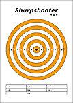 點一下即可放大預覽 -- 50張 A4 集彈靶專用靶紙B (進化版 A4兩用集彈靶 可用)