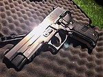 點一下即可放大預覽 -- 效能升級版!鏡面亮銀 HFC P226 全金屬瓦斯槍,手槍(附槍盒)