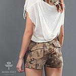 點一下即可放大預覽 -- 荒地蟒蛇迷彩~ 酋長響尾蛇 女款短褲 S號