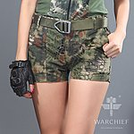 點一下即可放大預覽 -- 叢林蟒蛇迷彩~ 酋長響尾蛇 女款短褲 S號