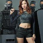 點一下即可放大預覽 -- 警黑蟒蛇迷彩~ 酋長響尾蛇 女款短褲 M號