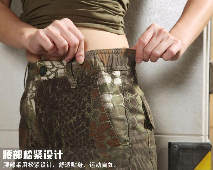 山地蟒蛇迷彩~ 酋長響尾蛇 女款短褲 M號
