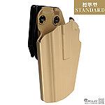 點一下即可放大預覽 -- 正品~左手版 沙色~SAFARILAND 沙法利蘭 579 GLS 通用型快拔槍套(STANDARD 標準型)