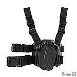 點一下即可放大預覽 -- 黑色~SP通用系統 CQC 手槍腿掛槍套(通用M92 1911 克拉克 P226 Hi-Capa),BB槍套,槍袋