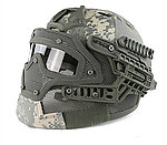 限量優惠!ACU數位迷彩~全罩式 戰術頭盔鐵網面罩,護目鏡