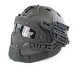 點一下即可放大預覽 -- 限量優惠!ACU~全罩式 戰術頭盔鐵網面罩,護目鏡