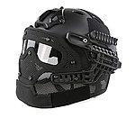 點一下即可放大預覽 -- 限量優惠!黑色~全罩式 戰術頭盔鐵網面罩,護目鏡