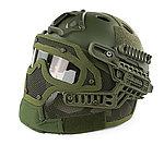 限量優惠!OD綠~全罩式 戰術頭盔鐵網面罩,護目鏡