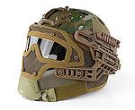 限量優惠!多地迷彩~全罩式 戰術頭盔鐵網面罩,護目鏡