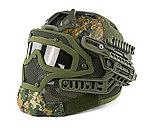 限量優惠!數位叢林迷彩~全罩式 戰術頭盔鐵網面罩,護目鏡