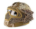 限量優惠!數位沙漠迷彩~全罩式 戰術頭盔鐵網面罩,護目鏡