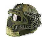 點一下即可放大預覽 -- 限量優惠!A-TACS FG~全罩式 戰術頭盔鐵網面罩,護目鏡