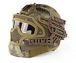 限量優惠!A-TACS CP~全罩式 戰術頭盔鐵網面罩,護目鏡