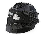 限量優惠!Typhon 警黑蟒蛇迷彩~全罩式 戰術頭盔鐵網面罩,護目鏡