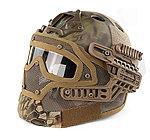 限量優惠!Mandrake 叢林 蟒蛇迷彩~全罩式 戰術頭盔鐵網面罩,護目鏡