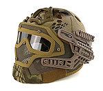 限量優惠!Highlander 荒地 蟒蛇迷彩~全罩式 戰術頭盔鐵網面罩,護目鏡