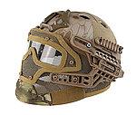 點一下即可放大預覽 -- 限量優惠!Nomad 蟒蛇迷彩~全罩式 戰術頭盔鐵網面罩,護目鏡