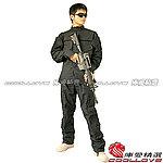 點一下即可放大預覽 -- 黑色 XXL號~美軍 特戰版 迷彩套服,迷彩服,戰鬥服,休閒服,戶外服,軍服,軍裝(衣服+褲子)