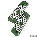 點一下即可放大預覽 -- WE M1911【綠色】CNC 鋁合金握把片