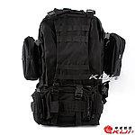 限量優惠!黑色~MOLLE 模組化戰術大背包,通勤包,收納包,收納袋,登山包(不含外掛包)